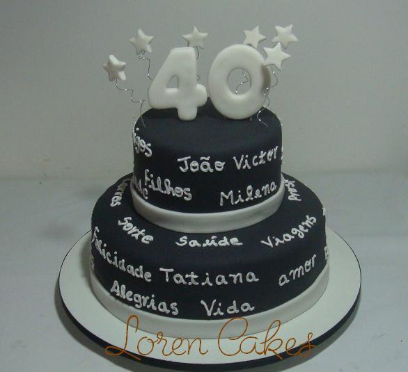 Cake Design Para Homem : Bolo 40 Anos De Casados Car Interior Design