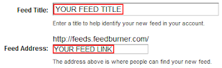 Feedburner RSS title and link