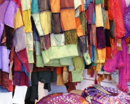 clothes made by hand at the regional market event
