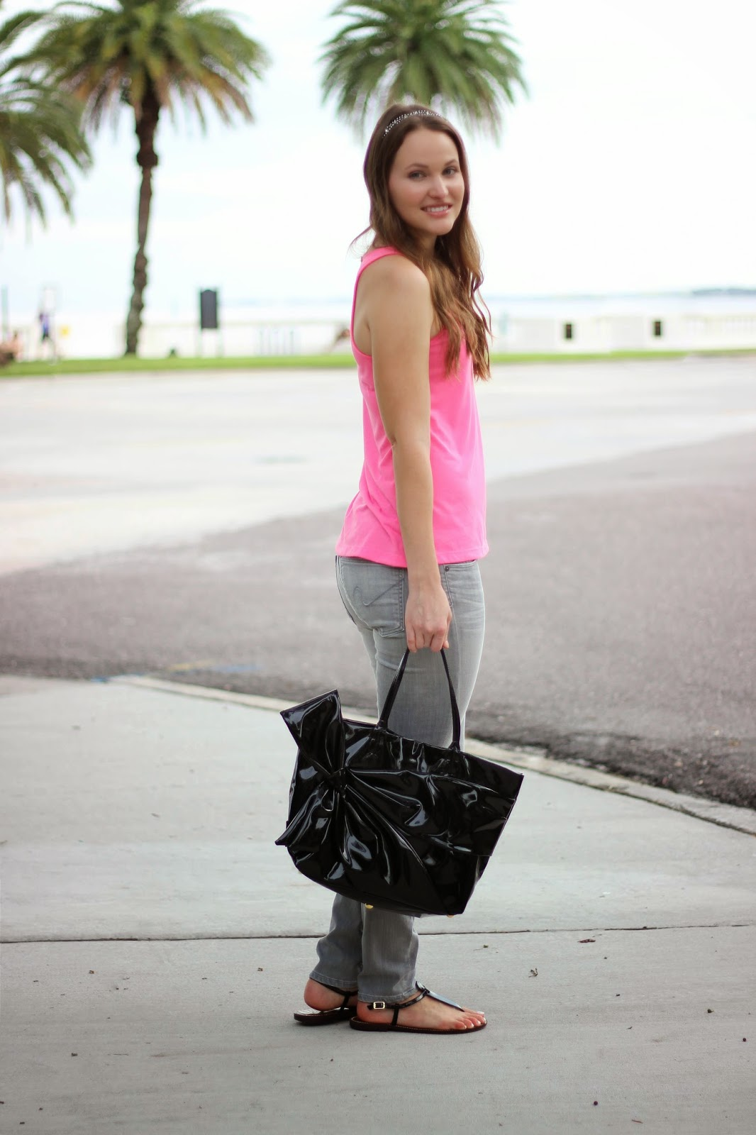 Neon Pink And Grey Kelly Elizabeth Style