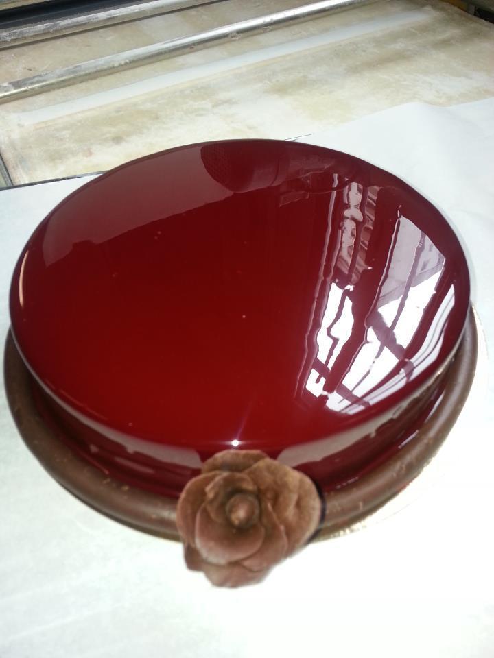 P tisseries moderne gla age chocolat miroir inratable - Glacage miroir chocolat ...