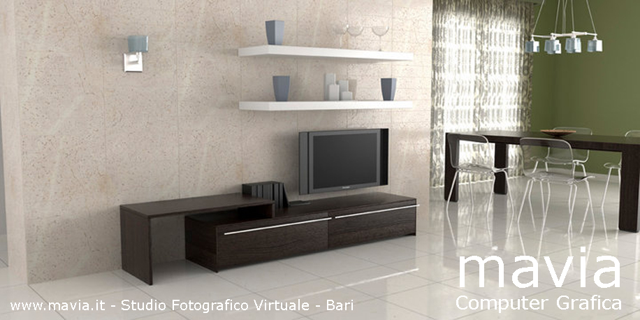 Esterni 3d,rendering 3d,architettura 3d: pavimenti rivestimenti marmo