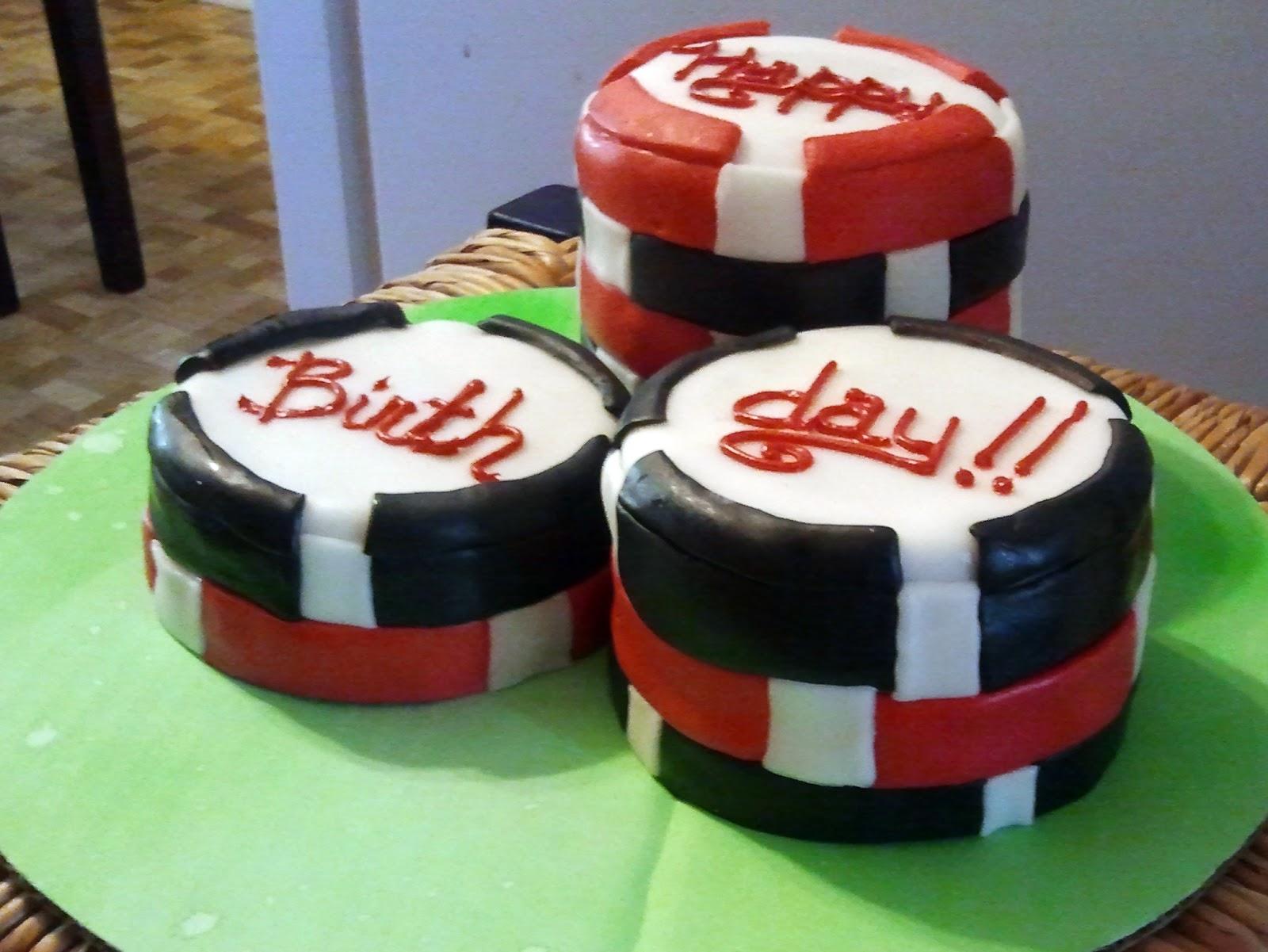 The Cake Villain Poker Chip Birthday Cake