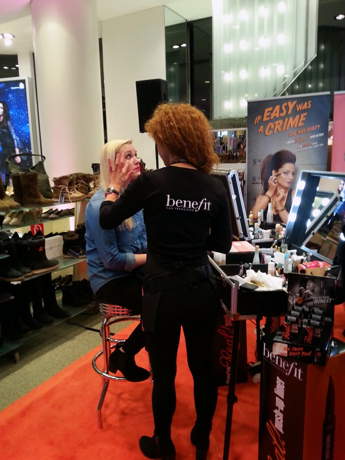 Benefit cosmetics at the Glamour Pink Carpet Event