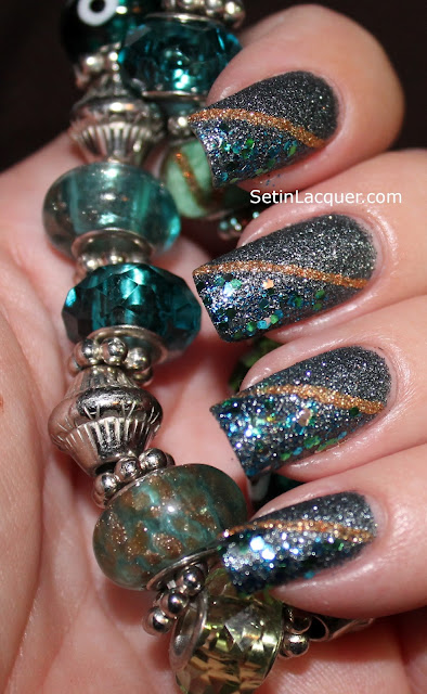 Glamazon manicure using Milani nail polish