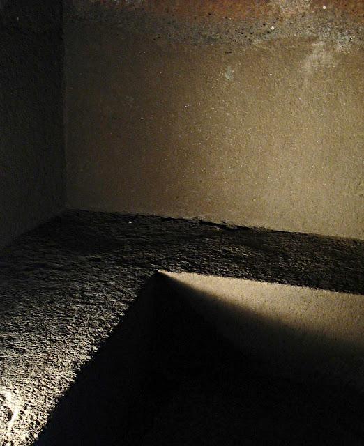 concrete bed at Ajanta