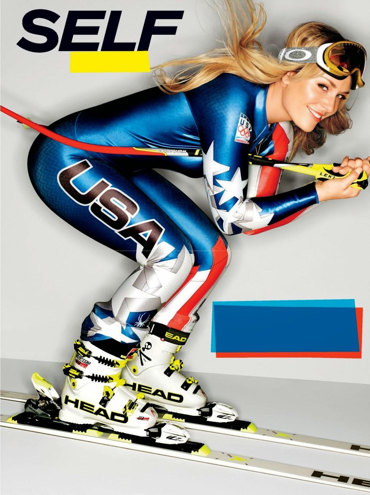 Lindsey vonn in self magazine february 2014