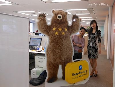 ExpiBear - The mascot of Expedia Japan