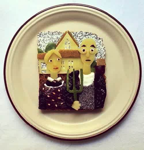 food art, toast project by Ida Skivenes