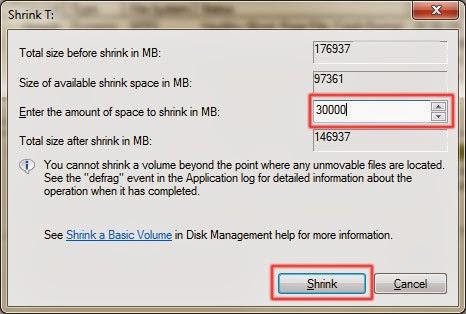 Hướng dẫn chia và gộp ổ trong Windows 7 không dùng phần mềm