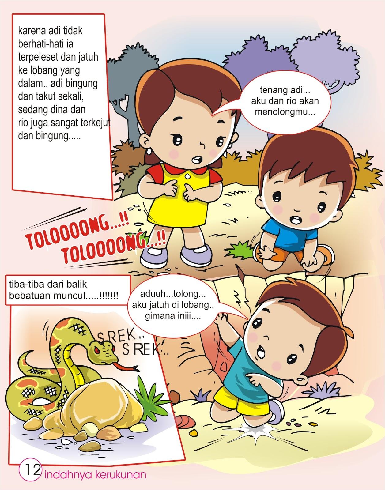 cegam anak anak contoh cerita bergambar untuk anak anak