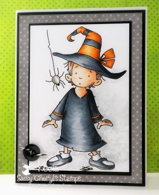 Sassy Cheryl's, Kecia Waters, witch, Copic markers, Halloween