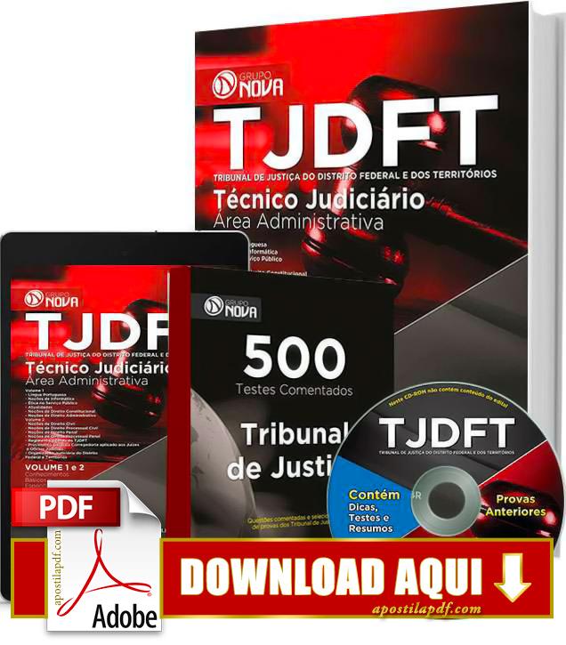 Apostila TJDFT 2015 Técnico Judiciário Impressa Apostila TJDFT 2015 PDF Grátis Download