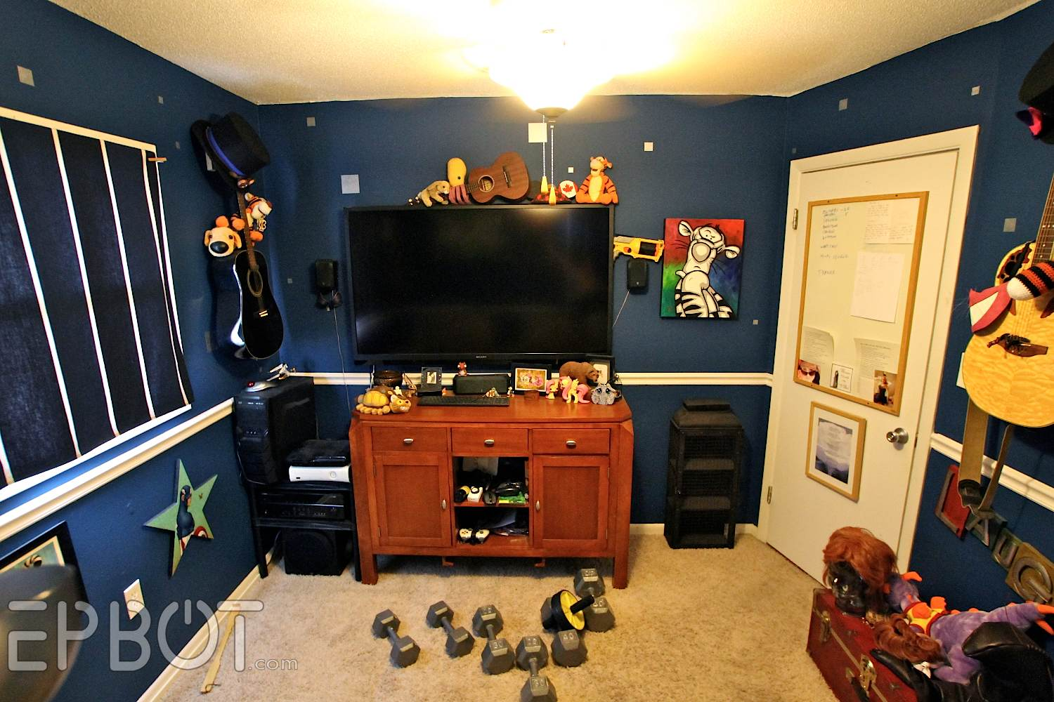 Epbot big reveal john 39 s game room makeover for Big game room