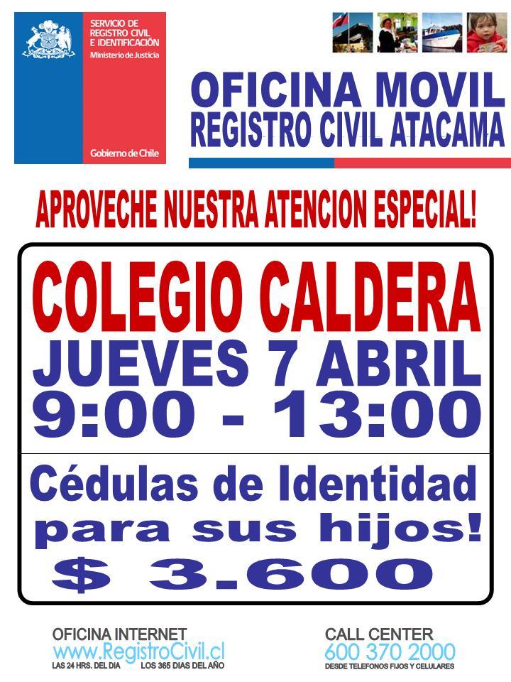 Servicio de registro civil e identificaci n atacama for Oficina registro civil