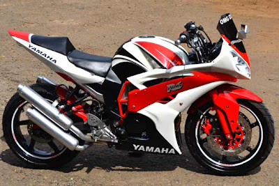 yamaha byson fairing merah putih