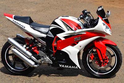 yamaha byson fairing merah putih