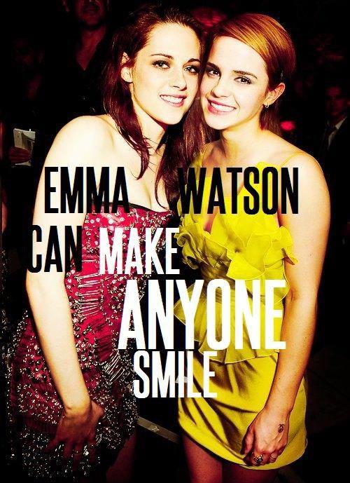Emma Watson Can Make Even Kristen Stewart Smile!