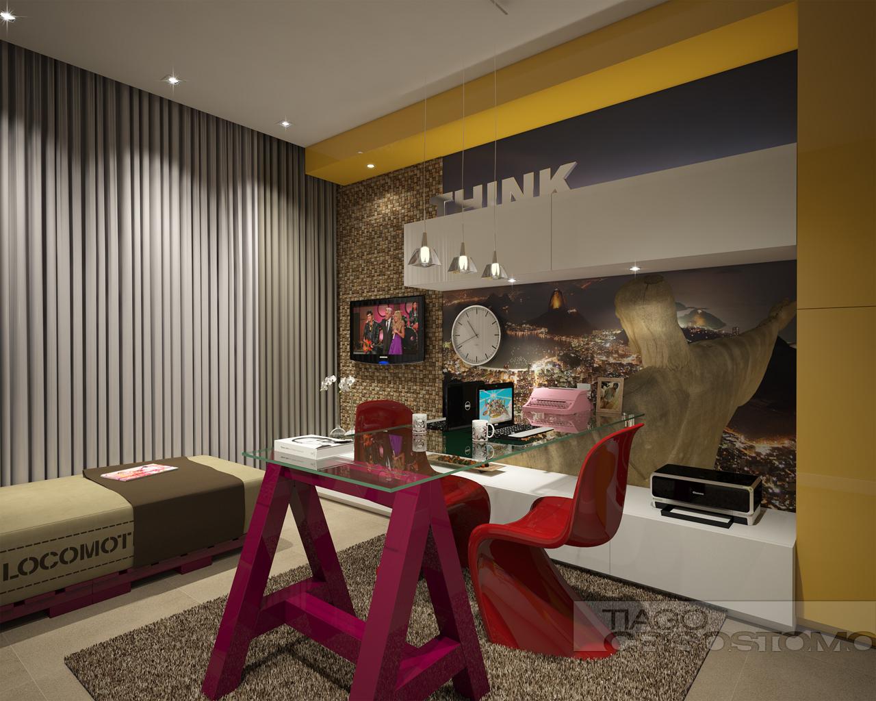 Sala Tv Com Home Office ~ Home Office