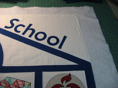 School Charity Banner ~ Binding, Backing and Label