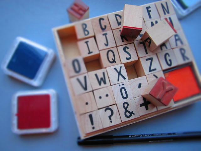 DIY mit Buchstaben Stempeln