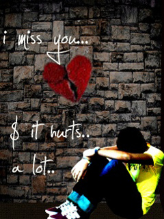 i miss you it hurts a lot