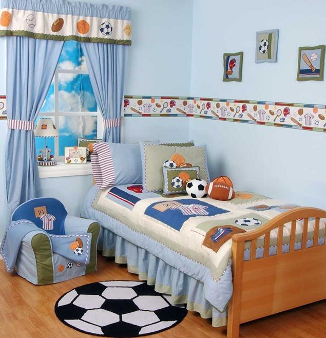 ide desain interior kamar tidur anak laki laki gambar