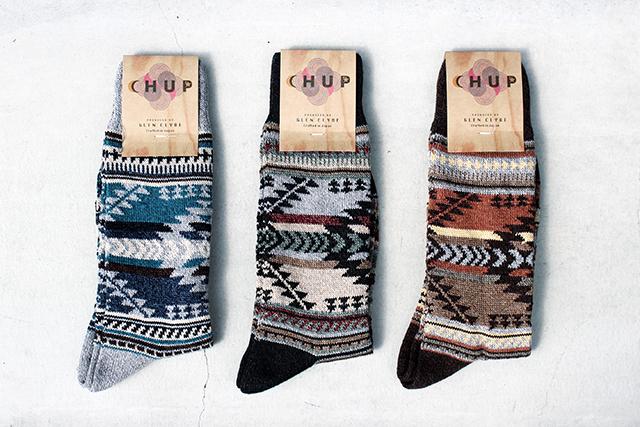 CHUPチュプsocks日本製ソックス靴下くつしたmadeinjapan原宿harajuku15FW 15AW柄ものgreenangleグリーンアングルbootssocksブーツソックス