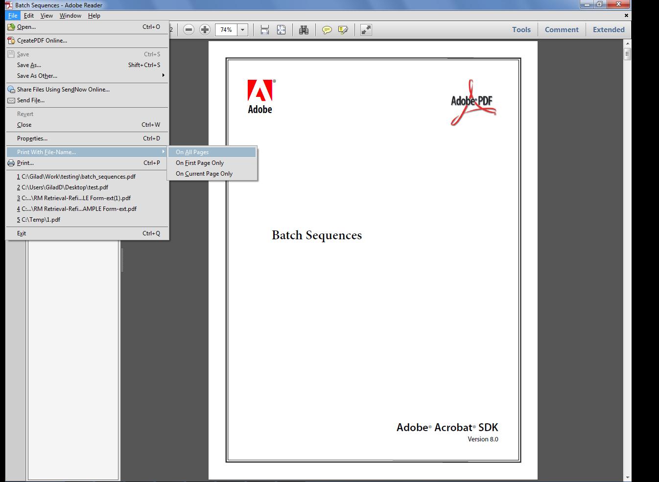 Черно-белая печать с помощью Acrobat или Reader 28