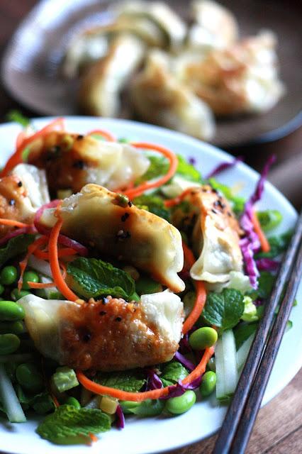 Spicy Vegetable Gyoza Salad