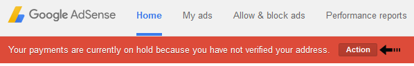 adsense payment hold