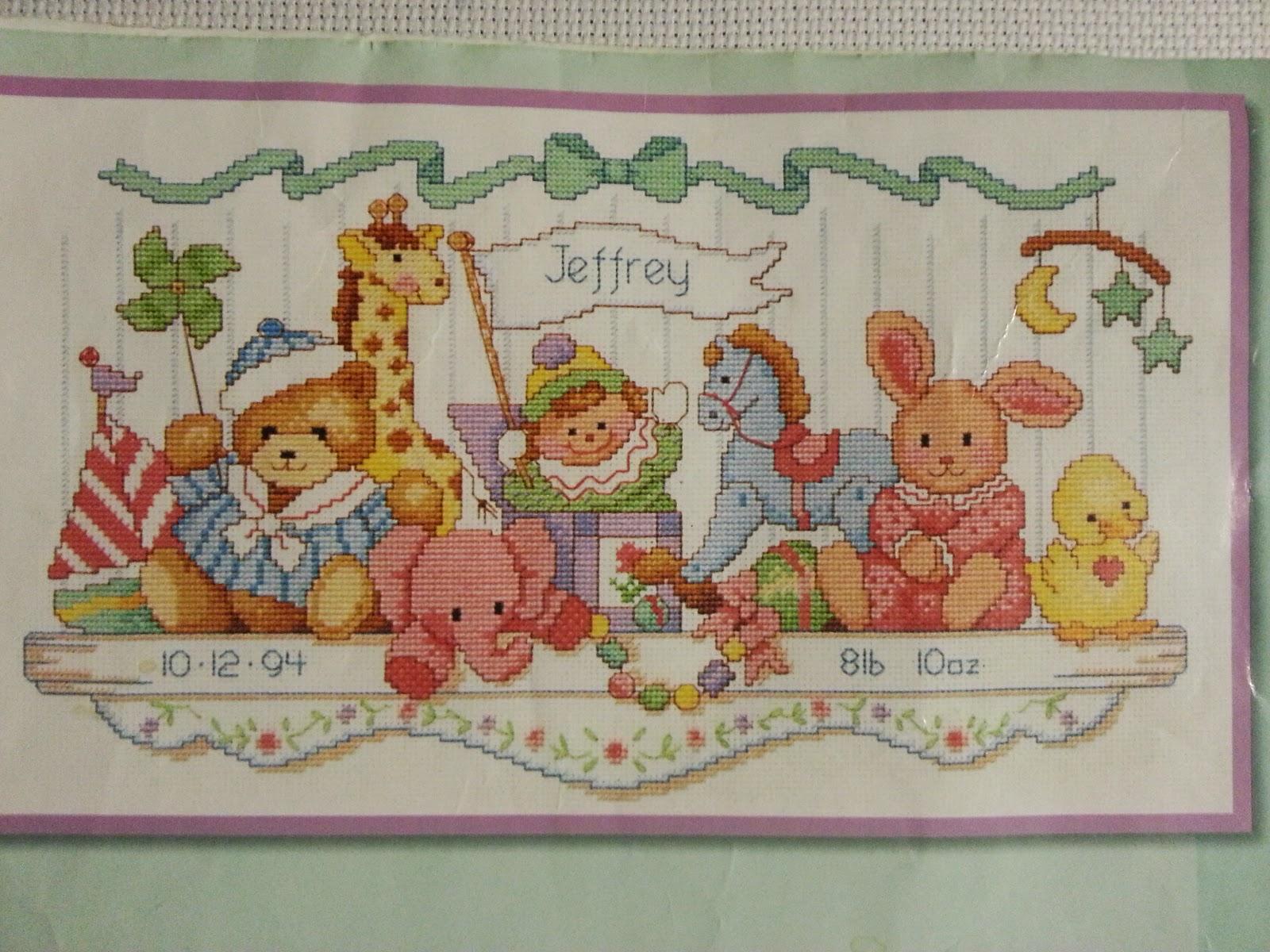 Вышивка для детской комнаты крестом