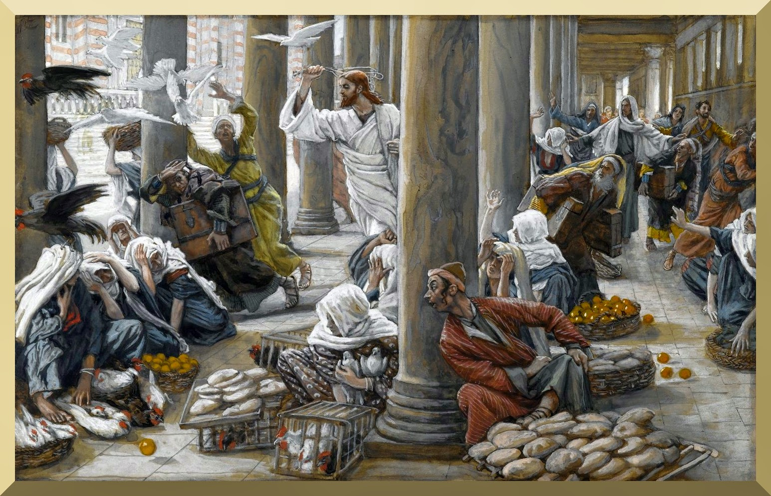 """The Merchants Chased from the Temple"" -- by James Tissot"