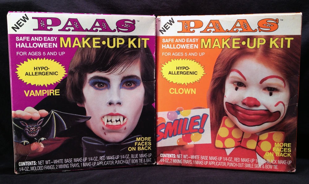 Neato Coolville: 1984 PAAS HALLOWEEN MAKE-UP KITS