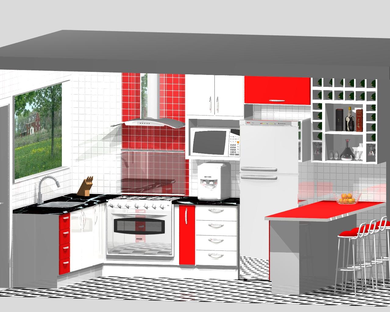 MM Móveis Planejados: PROJETOS Cozinha #BC0F0F 1280 1024