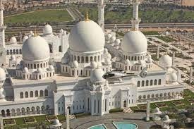 Gambar Mesjid Sheikh Zayed Abu Dhabi Tampak Atas Cantik