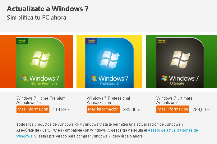 Precio windows 7 original por paises en Mexico Argentina Colombia Chile por version