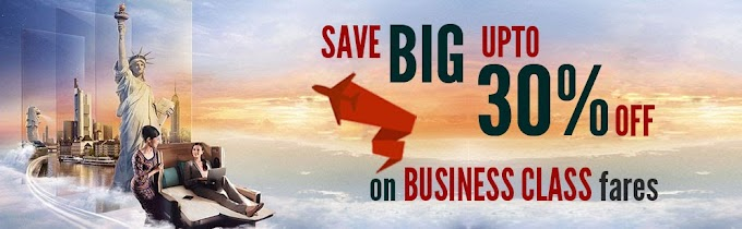 SAVE BIG ON BUSINESS CLASS FARES