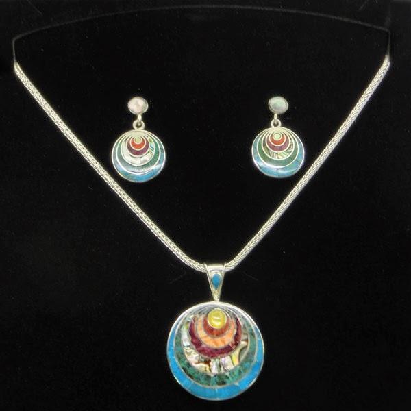 Conjunto de joyas de plata Yaku
