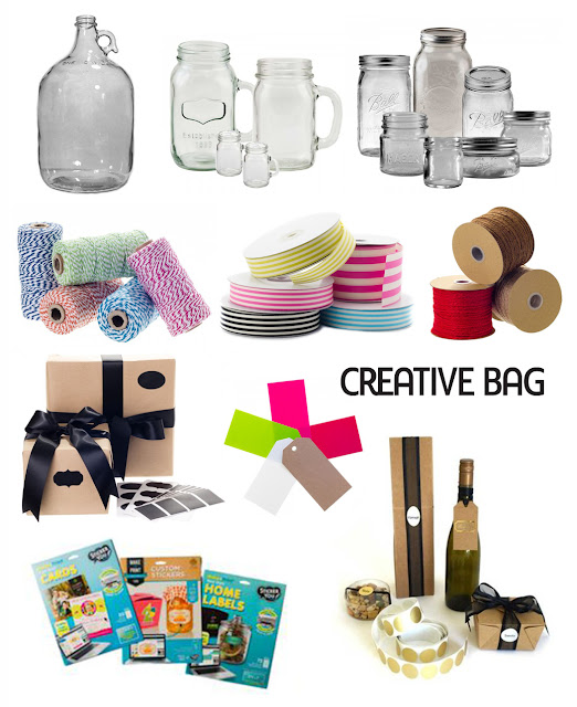 "create your own ""bartender in a bottle"" gifts using products from Creative Bag"