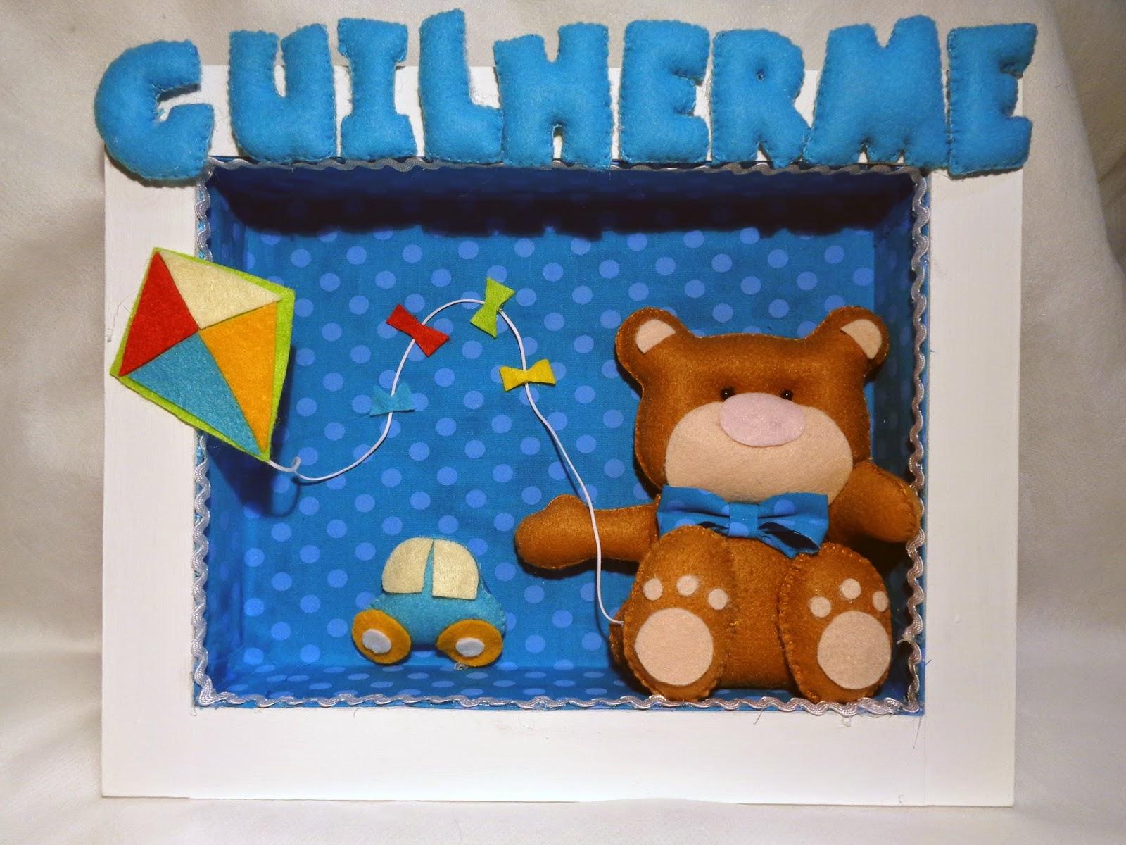 quadro porta maternidade urso