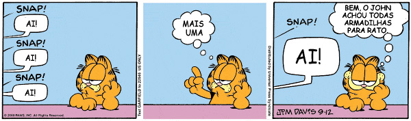 Tiras do Garfield