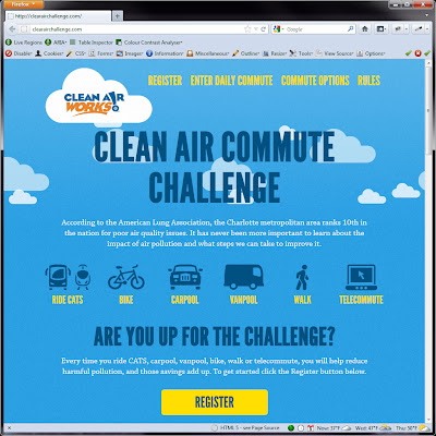 Screen shot of http://clearairchallenge.com/.