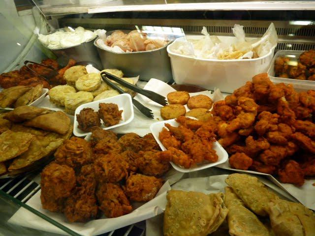 comida india en el barrio Rusholme