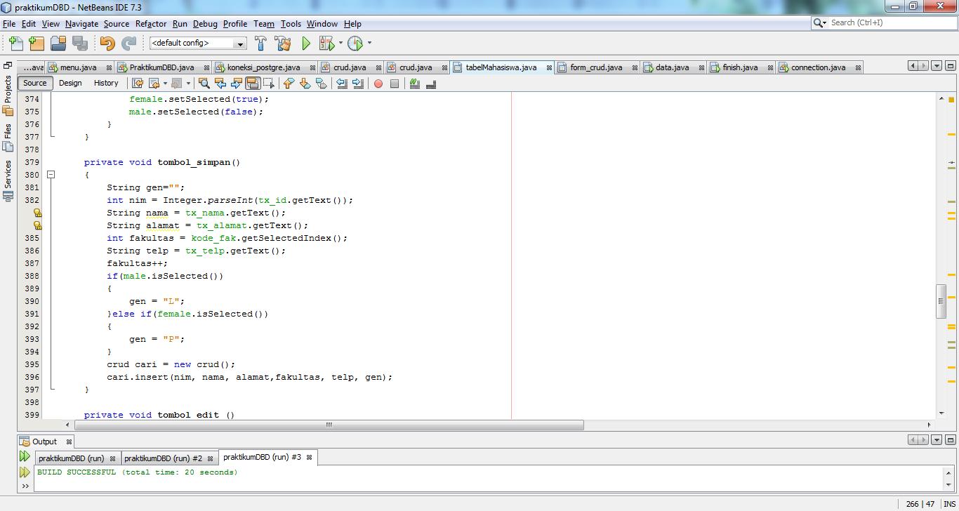 Laporan Praktikum Desain Basis Data Ix Quot Koneksi Postgresql Pada Java Netbeans Quot Light Education