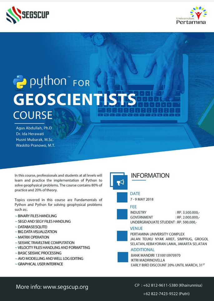 Python for Geoscientists