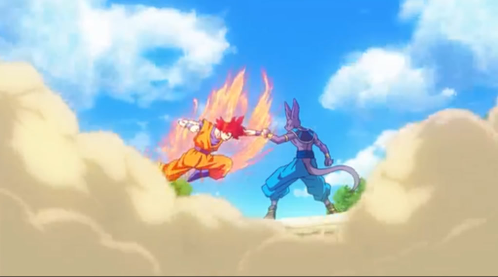 Goku attacking Bills