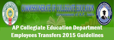 AP Collegiate Education Department, Employees Transfers 2015,Guidelines