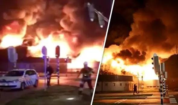 Βίντεο-ντοκουμέντο με την πρώτη «πιστολιά» να πέφτει: Πυρπολήθηκε Ισλαμικό κέντρο στην Ολλανδία! (Βίντεο)