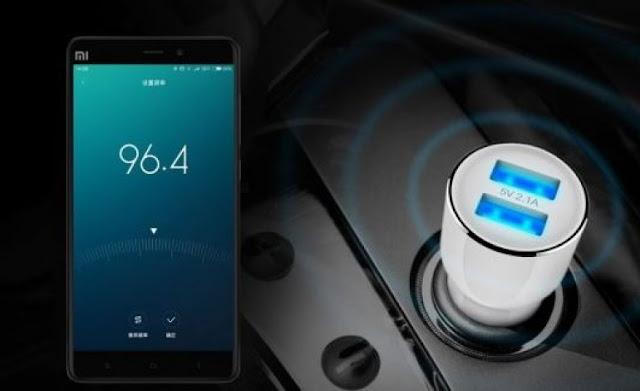 Carregador automotivo com transmissão FM - Xiaomi Roidmi
